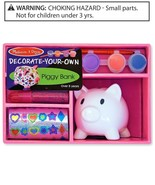 Melissa & Doug Decorate Your Own Piggy Bank Craft Kit - $9.00