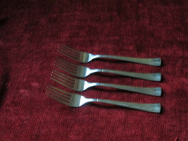 Cuisinart Geo SET OF 4 salad forks glossy - $21.73