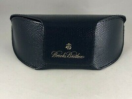 Navy Blue BROOKS BROTHERS Soft Sided Logo Glasses Sunglasses Case - $14.25