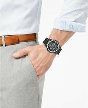 I.N.C. Men's Black Silver Resin Silicone Strap 46mm Digital Sports Watch NIB image 4