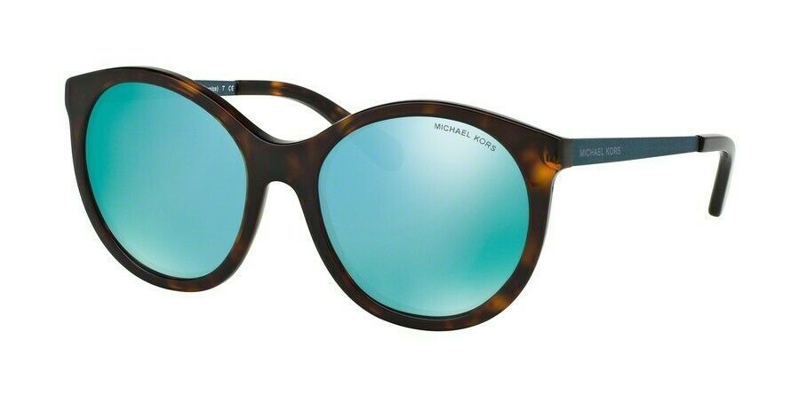 NWT Michael Kors Island Tropics Tortoise Teal Blue Mirrored Sunglasses--MK2034 - $74.99