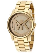 BRAND NEW MICHAEL KORS RUNWAY MK5786 GOLD STAINLESS STEEL WOMEN'S WATCH - £122.64 GBP
