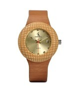 BOBO BIRD Women Wooden Watches Ladies Metal literally with Leather Strap... - $39.41