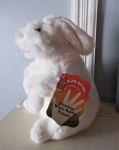 FOLKMANIS STANDING WHITE RABBIT HAND PUPPET- NEW WITH TAG - $18.99
