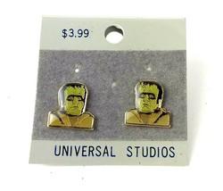 Vintage Frankenstein Earrings Universal Studios original card Monster Je... - $24.70