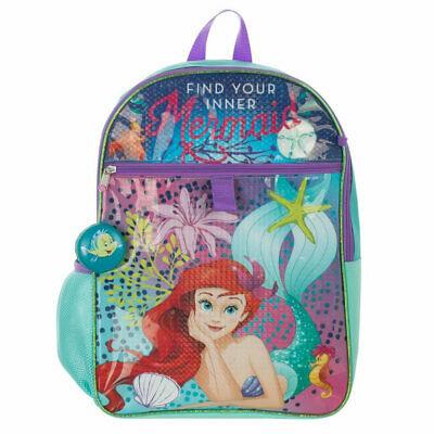 Little Mermaid 5-Piece Backpack Set Blue