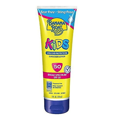 Banana Boat Kids Tear Free Sunscreen Lotion SPF 50, 8 Oz (Pack of 2)