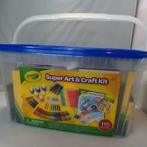 Crayola Super Art & Crafts Kit Supplies Art Set Gift 115 Pieces Doodle Pad NEW - $27.66