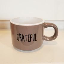 Espresso Mug Set of 3, ceramic cups, Thankful Grateful Blessed, orange gray image 6