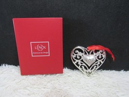 Lenox, Sparkle & Scroll, Silver Plated, Heart Ornament - $8.95