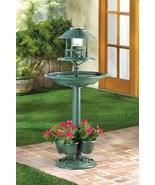 Garden 3 in 1 Birdbath, Solor Light, and Flower Planter - $75.00