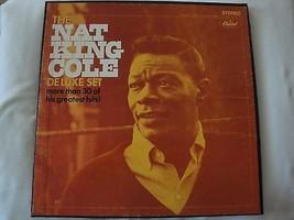 The Nat King Cole de Lujo 3 Record Caja Capitol Records STCL-2873, Estér... - $18.48