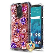 Purple Stargazers Sparkle TUFF Glitter Hybrid Cover for LG Stylo 4 Plus/... - $11.39