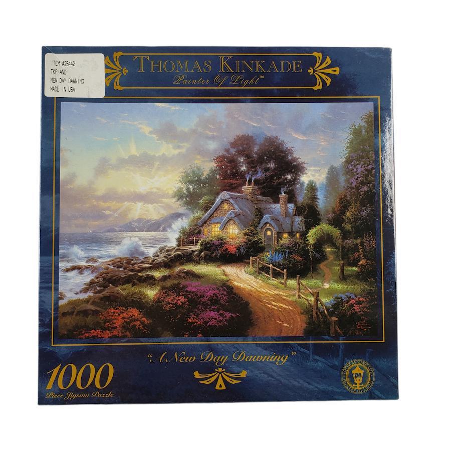 Thomas Kinkade Painter of Light A New Day Dawning Jigsaw Puzzle 1000 Pc Sealed - $24.99