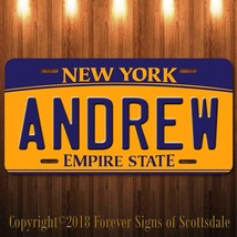 Andrew New York Name License Plate Aluminum Vanity Tag - $16.82