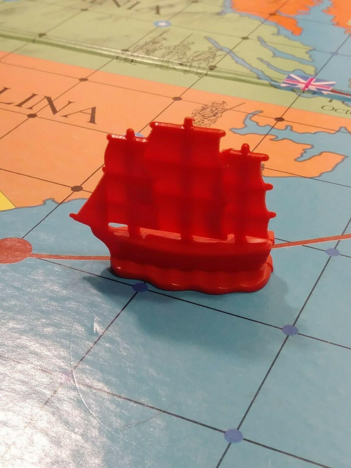 Red war ship 1975 Skirmish American Heritage Revolutionary War Game replacement - $7.50
