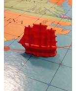Red war ship 1975 Skirmish American Heritage Revolutionary War Game repl... - $7.50