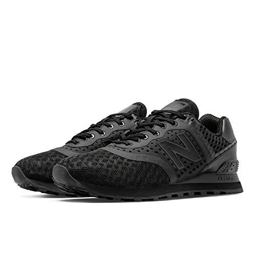 New Balance 574 Re-Engineered Breathe Solid, Black, 9 M US