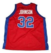 Magic Johnson #32 Vikings Basketball Jersey New Sewn Red Any Size image 5