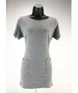 Lacoste Gray Knit Sweater Dress Womens Size 32 Short  Sleeve Button Up C... - $16.82
