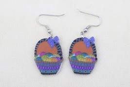 Bonsny basket cute lovely printing drop earrings acrylic new 2014 design... - $10.00