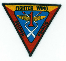 USN, NAVY,FIGHTER WING 1, SEMPER PRIMUS, PACIFIC, PATCH, VINTAGE - $5.45