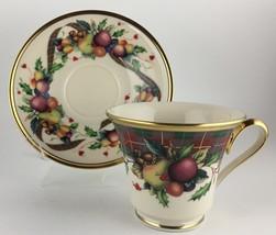 Lenox Holiday Tartan Cup & saucer  - $50.00