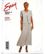 McCall's Easy stitch 'n save Pattern 2009 Dress Size A (8-10-12-14) - $4.94