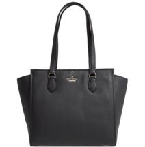 Kate Spade NY  NWT $358 Jackson Street Hayden Black Pebble Leather Large... - $187.11