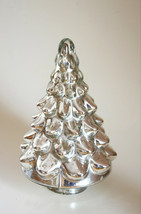 Pottery Barn Mercury Glass Christmas Tree   Small Lit Silver  new in the... - $46.52