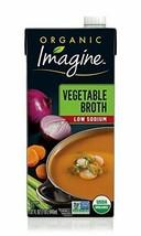 Imagine Organic Low-Sodium Vegetable Broth, 32 oz - $20.51