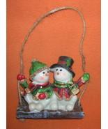 Jubilee Giftware Resin Mr. & Mrs. Snowman Swinging Ornament   UPC:710534... - $9.90