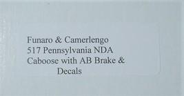 Funaro & Camerlengo HO PRR NDA Caboose w/ AB  Brake kit 517 image 3