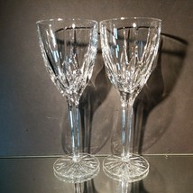 2 (Two) MIKASA APOLLO Cut Lead Crystal 8 1/4 Inch Water Goblets Glasses - $34.19