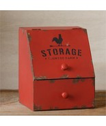 SALE! Farmhouse Red Kitchen Counter Storage Bin - $15.00