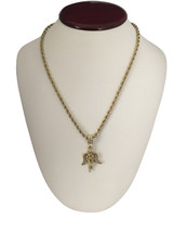 "Mens 14K Gold GP Hip Hop Mini Angel Pendant Necklace w/ 30"" Rope Chain - $7.69"
