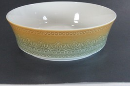 "Vintage Syracuse China Large Serving Bowl Carefree Calypso Blue Brown 8""  - $12.69"