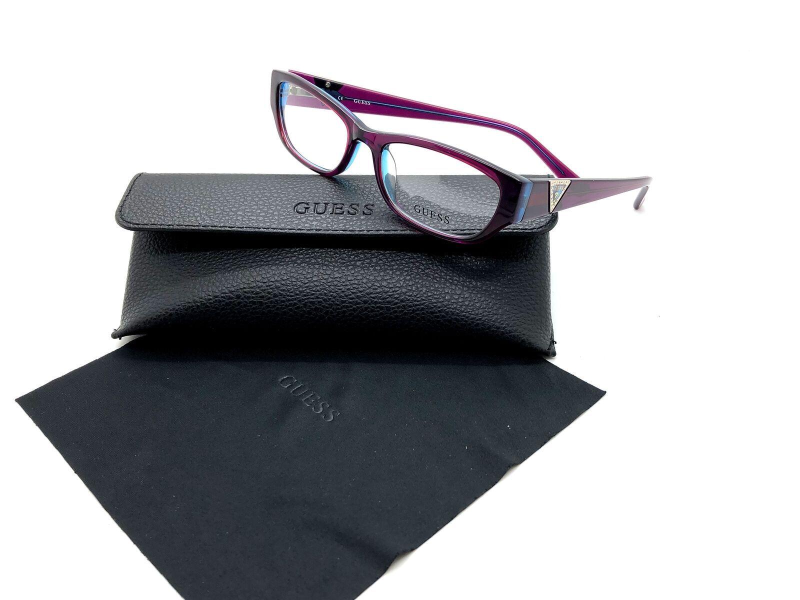 Guess Purple Eyeglasses Frame Remove Demo lenses for RX GU2387 PURBL 51MM