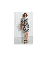 Capsule Tie Waist Shirt Dress Black Floral Print Size US 16 NWT - $39.59