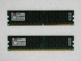 Kingston 4GB 2X2GB DDR2 PC2-5300 240Pin Ecc Reg Server Ram KTH-XW9400K2/4G - $19.55
