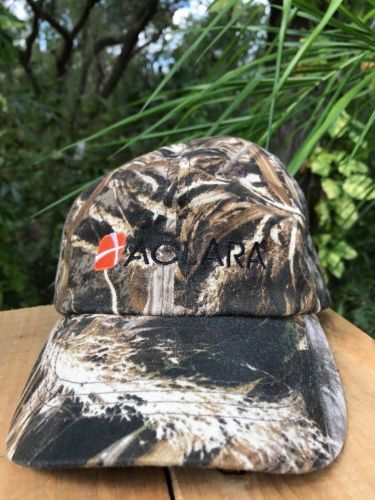ACLARA EMBROIDERED CAMO HAT CAP ADVERTISING ADJ to SIZE REALTREE FABRIC PRINT