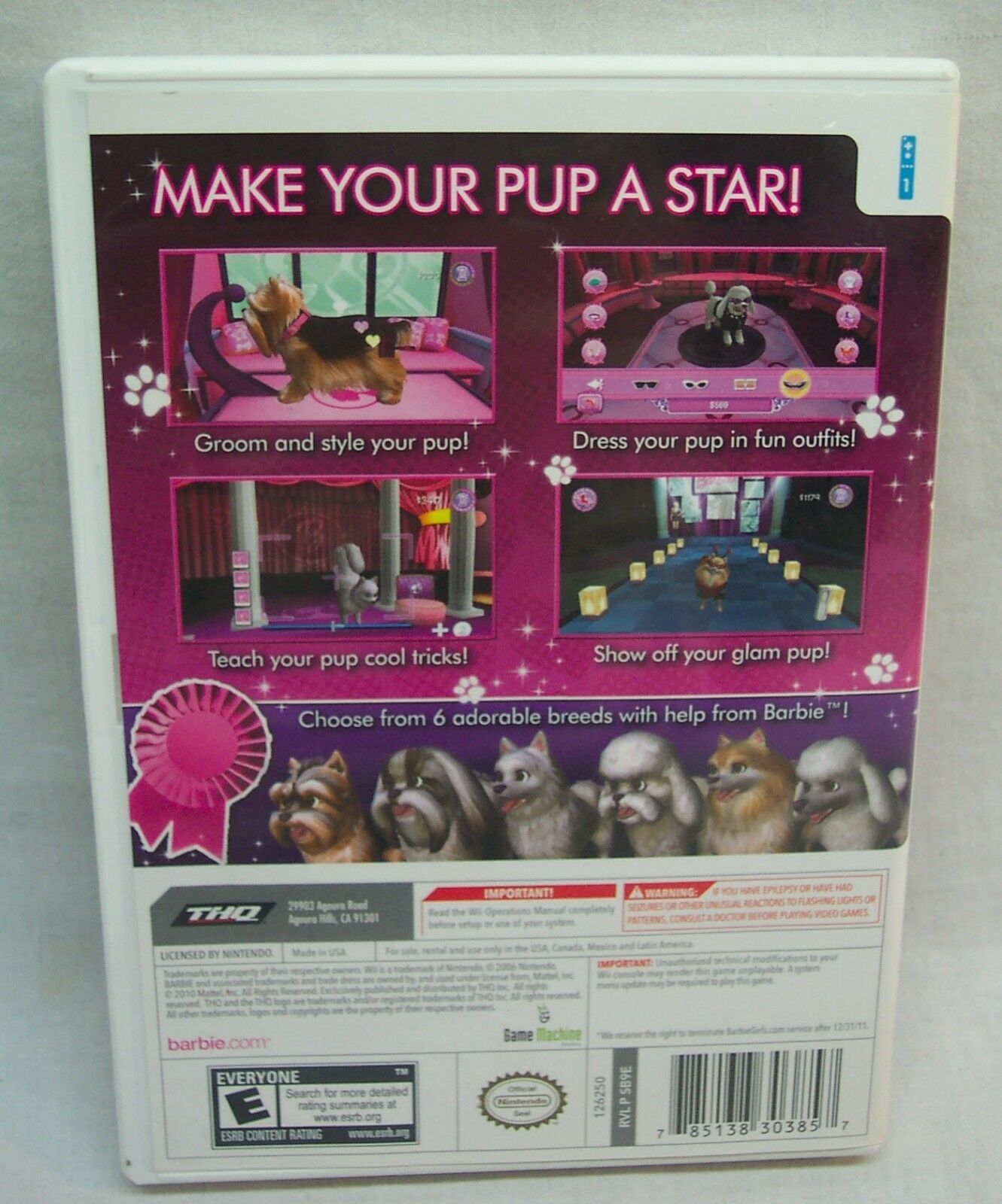 Barbie - Groom And Glam Pups Nintendo DS ROM …