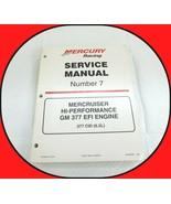Mercury Marine Racing Mercruiser GM 377 EFI Service Manual 6.2L Number 7... - $17.77