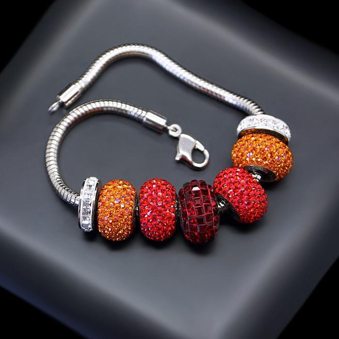 "Bracelet ""BeCharmed Pavé Mini"" with Swarovski™ beads"