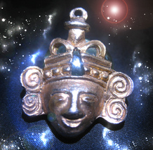 HAUNTED ANTIQUE NECKLACE GOLDEN GOD WEALTH POWER KEY HIGHEST LIGHT OOAK MAGICK - $9,900.77
