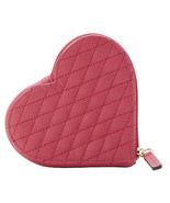 NWT Rebecca Minkoff Quilted Zest Leather Heart Coin Purse Mini Wallet - $64.50