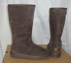 UGG ALBER Choc Water Resistant Suede Fully Lined Boots Size US 5 NIB #1016592 - $107.86