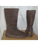 UGG ALBER Choc Water Resistant Suede Fully Lined Boots Size US 5 NIB #10... - $107.86