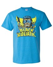 Black Goliath t-shirt Marvel Bill Foster Giant-Man retro 70's comics blue tee image 2