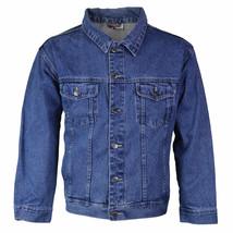 Star Jean Men's Classic Premium Button Up Cotton Denim Jean Jacket Blue image 1